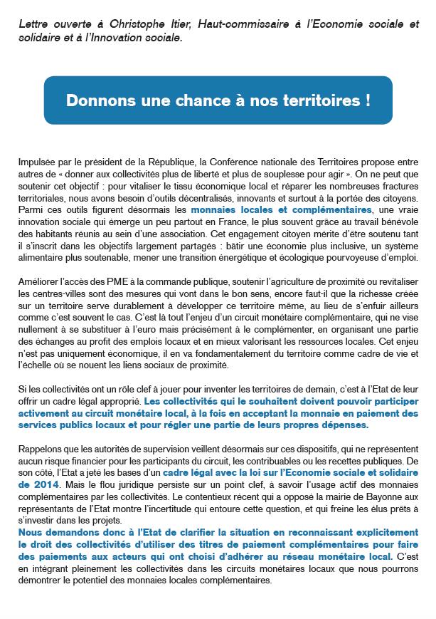 Plaidoyer Signez La Lettre Ouverte Des élus Locaux Pour Un